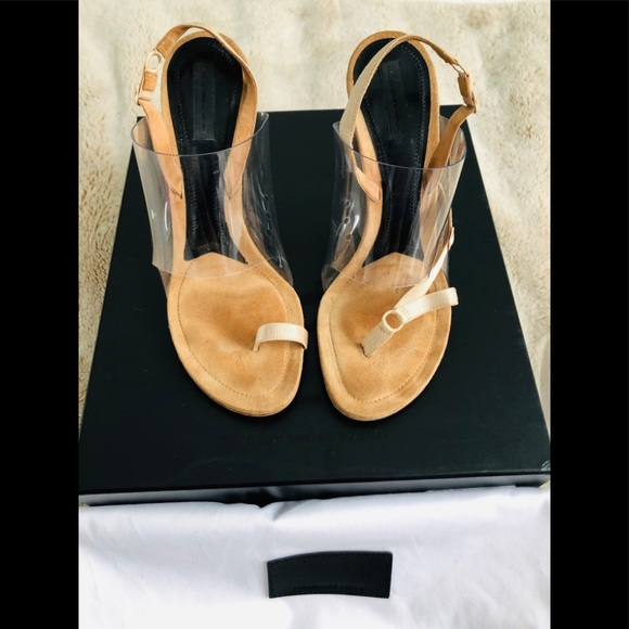 9a70043efeb ALEXANDER WANG Kaia PVC High Heel Sandals 38